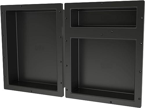 Tile Redi USA RNTH1620S-20DU Shower Niche, 32 W x 20 H, Black