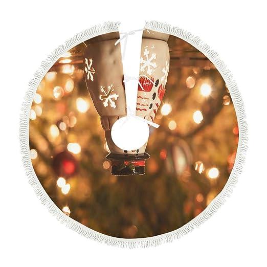 kikomia - Falda para árbol de Navidad, diseño de muñeco de Nieve ...