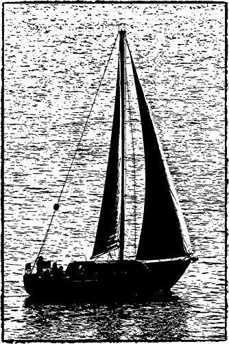 Darkroom Door Cling Stamp 4.5x3-Sailboat