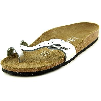 Birkenstock Piazza Women US 10 NS Silver Slides Sandal