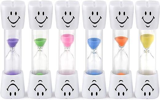 Compra Egurs 2 Minutes Security Hourglass Smiley Sand Timer para niños Cepillo de Dientes, Juegos, Cocina Cuenta atrás Cálculo de la Libertad de Color en Amazon.es