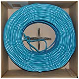 Offex Plenum Cat6 Bulk Cable, Solid UTP CMP 23 AWG, Pullbox, 1000-Foot, Blue, (OF-11X8-061TH)