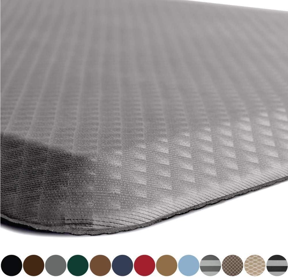 Kangaroo Original Standing Mat Kitchen Rug, Anti Fatigue Comfort Flooring, Phthalate Free, Commercial Grade Pads, Ergonomic Floor Pad for Office Stand Up Desk, 32x20, Charcoal