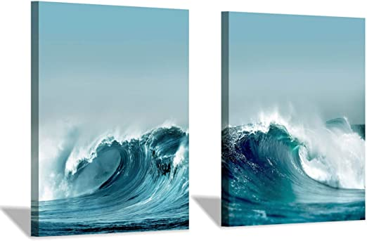 WAVE SEA SURF SUNSET BEAUTIFUL  ART WALL LARGE IMAGE GIANT POSTER