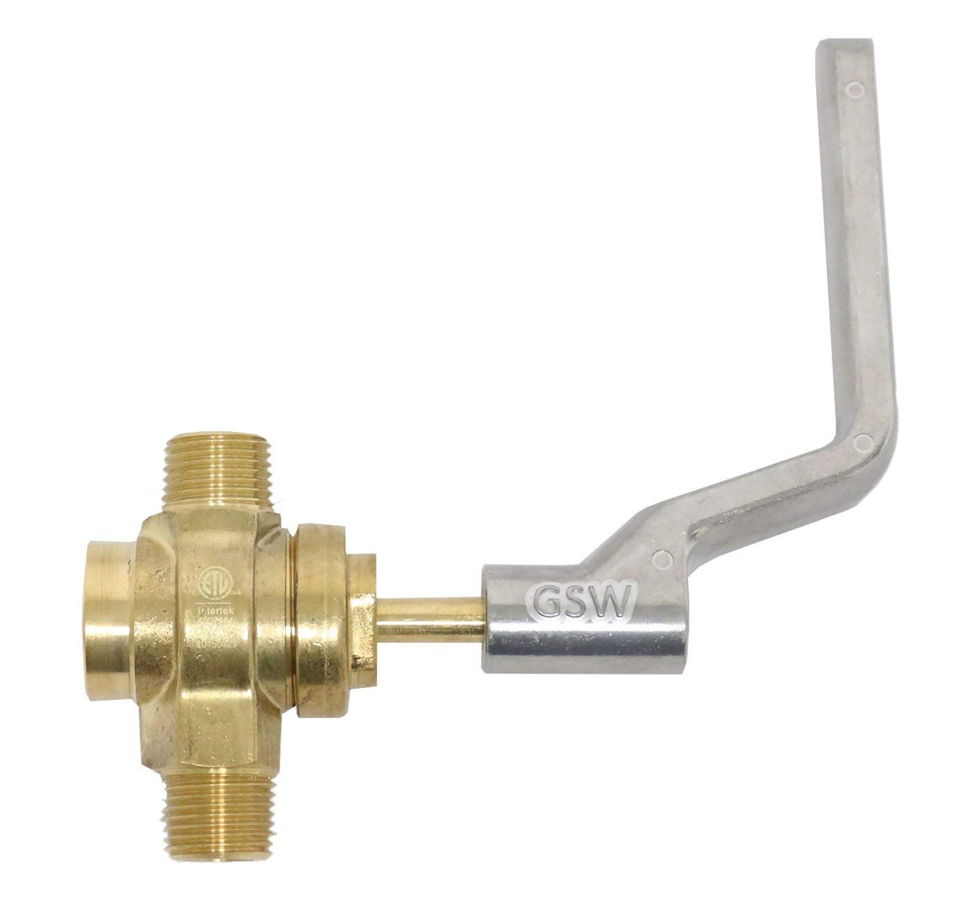 """GSW WR-GV Copper Gas Valve with Handle for Commercial Wok Range, ETL Approved, 1/2"""" NPT X 1/2"""" NPT 1/2 PSI"""