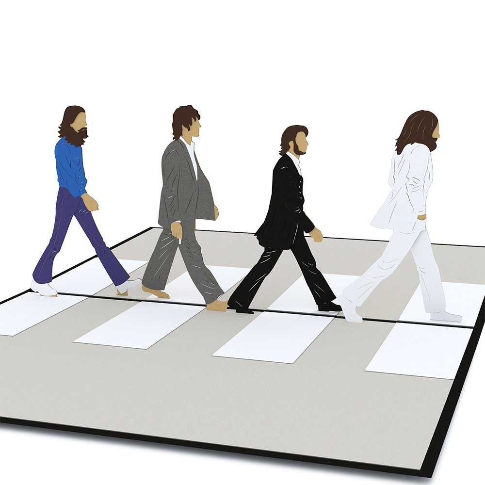 Lovepop The Beatles Abbey Road Pop Up Card, Birthday Card, 3D Card, Greeting Card