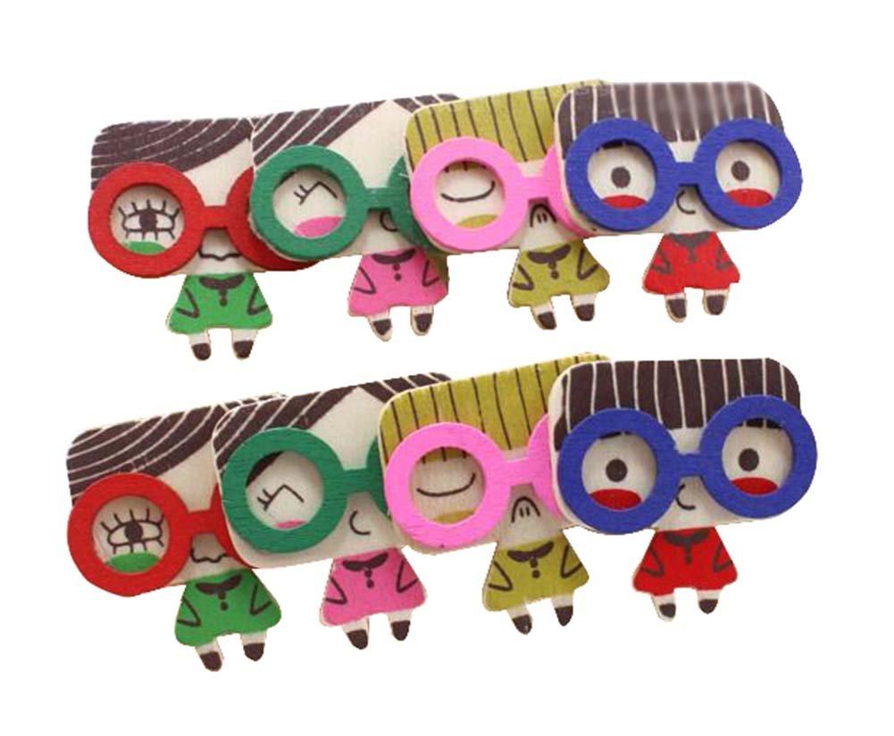 24 piezas clips de madera lindos clip de clips de decoración ...
