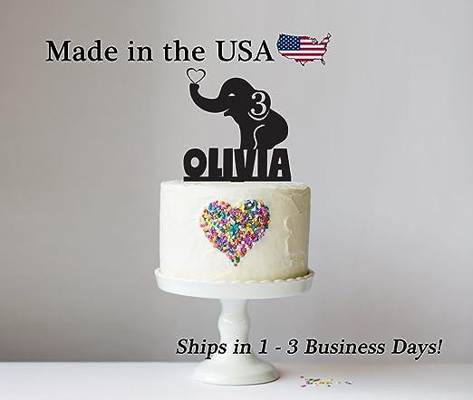 Decoración para tarta de elefante con base de recuerdo ...