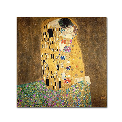 The Kiss, 1907-08 by Gustav Klimt, 24×24-Inch Canvas Wall Art