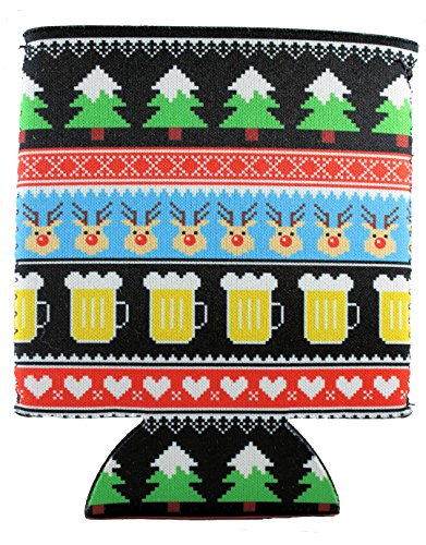(Reindeer and Beers Christmas Can Coolie (1))