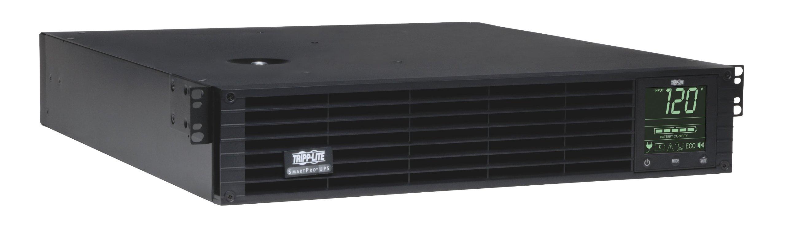 Tripp Lite 3000VA Smart UPS Back Up, Sine Wave, 2250W Line-Interactive, 2U Rackmount, Extended Run Option, LCD, USB, DB9 (SMART3000RM2U)