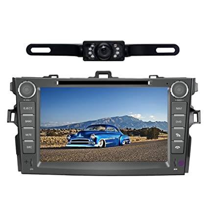 Car Stereo for Toyota Corolla (Support Year 2007 2008 2009 2010) 8 inch Indash CAR DVD Player GPS Navigation Navi iPod Bluetooth Rear Camera HD Touchscreen ...