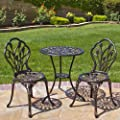 Best Choice Products Outdoor Patio Furniture Design Cast Aluminum Bistro Set from Best Choice Products