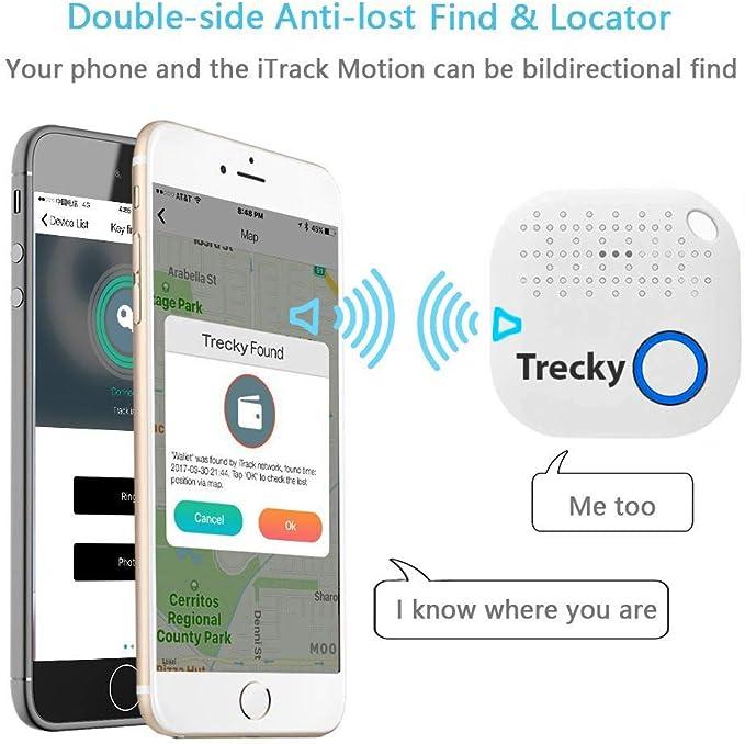 Localizzatore Wireless Portatile ITRACK Colore Bianco con Bluetooth per riporre Oggetti Muvit MIOTRK002