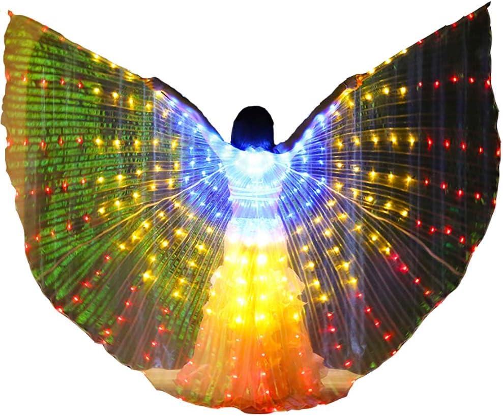 Bailando ISIS Wings para Adultos Chicas Traje de Danza del Vientre ...
