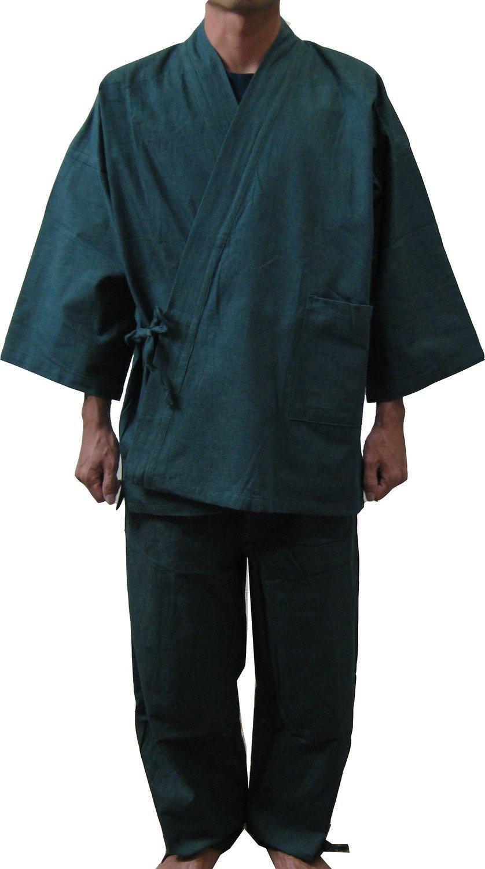 Edoten Men's Japan Kimono Denim Samue GN M