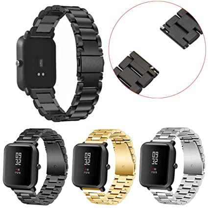 Brazalete de acero inoxidable, pulsera Smart Watch para ...