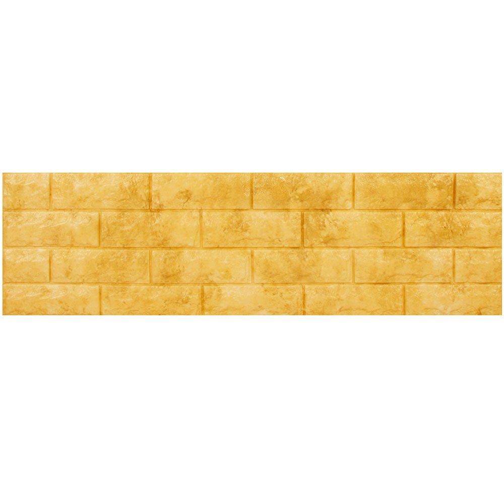 壁紙 レンガ シール 【壁紙シールサンプル】 壁用レンガシール [オーカーイエロー:(fb-004)] 壁紙シール アクセントクロス ウォールシール DIY 壁紙 シール レンガ タイル シート 壁用 B01GJG5X8C お試しサンプル オーカーイエロー:(fb-004) オーカーイエロー:(fb-004) お試しサンプル