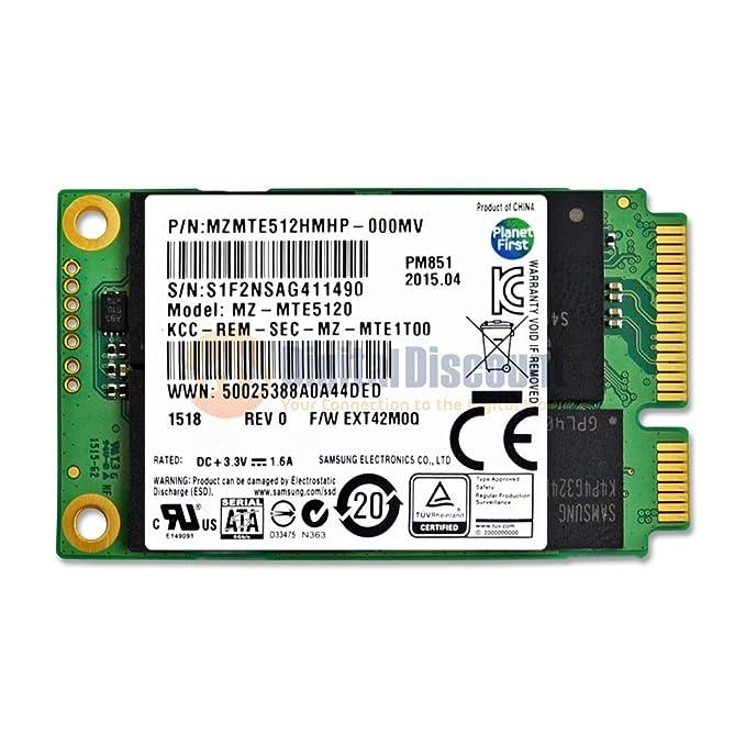 Samsung 512GB mSATA de SATA III de 50mm de PM851 MZMTE512HM de ...