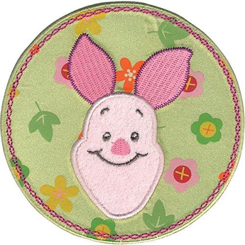 Wrights Disney Winnie The Pooh Piglet Flower Circle Iron-On (Piglet Fabric)