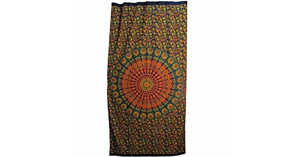 Amazon.com: Indian Mandala de Bohemia floral algodón Yoga ...
