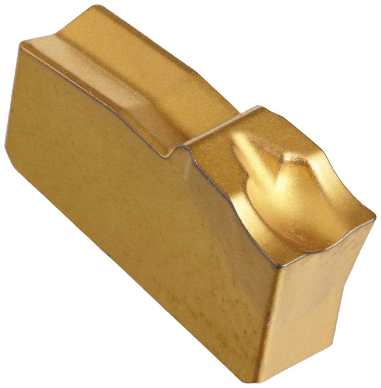 Sandvik Coromant Q-Cut 151.2 Carbide Parting Insert, GC2135 Grade, Multi-Layer Coating, 5E Chipbreaker, 1 Cutting Edge, N151.2-250-5E, 0.0079'' Corner Radius, 25 Insert Seat Size (Pack of 10)