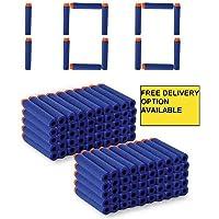 ZZ ZONEX Toy Bullet Foam Dart Bullets for Nuref N Strike Elite Guns, 100 -Piece , (Blue)