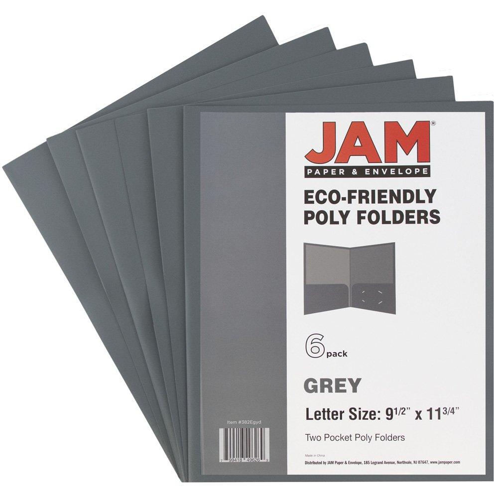 JAM PAPER Plastic 2 Pocket School POP Folders - Teal - 6/pack JAM Paper & Envelope FBA_382Eted