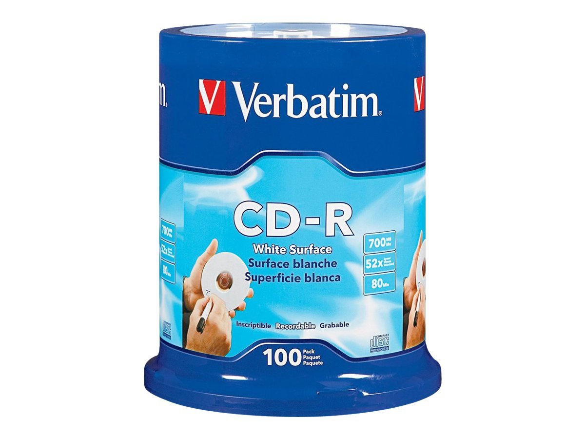 Verbatim 10pk CD-R 80min 700mb 52x Slim Case VERBATIM CORPORATION 94935 Blank Media & Cleaning Cartridges