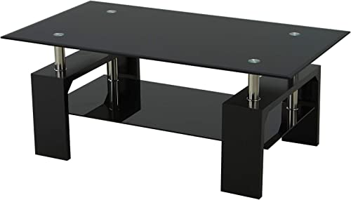 Rectangle Tempered Glass Coffee Table