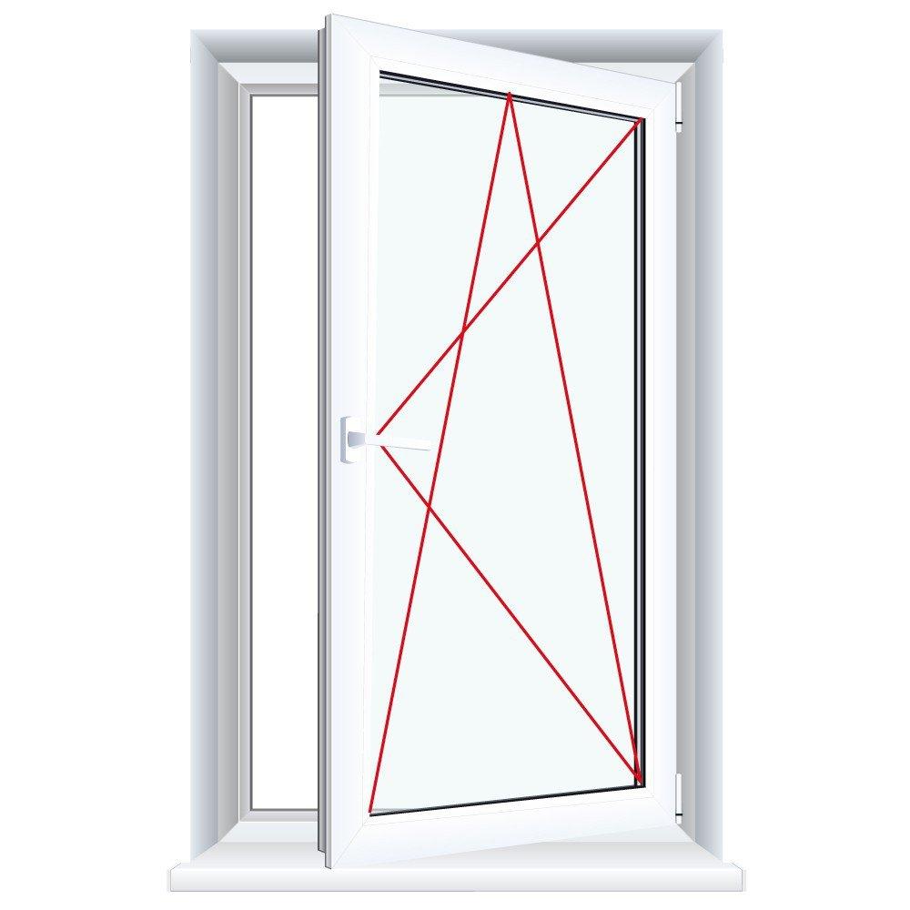 Kunststofffenster weiß  Kunststofffenster weiß Dreh Kipp 2-fach 3-fach Verglasung alle ...