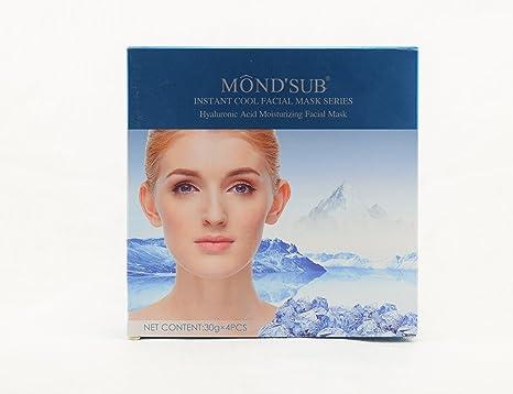 Aliviar las quemaduras solares, Instant Cool Silk Facial Mask After tan hidratante Repairing: Amazon.es: Belleza