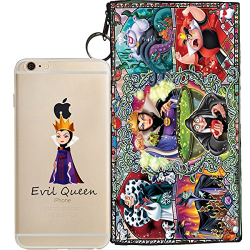 Disney Villains Evil Witch, Ursula, Maleficent Jelly Clear Case for Apple iPhone 8 (includes 8