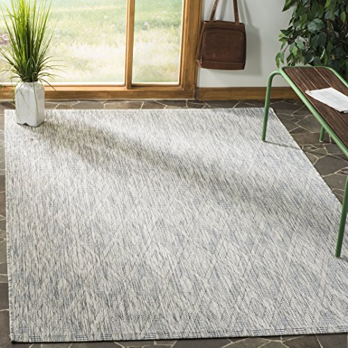 Safavieh Courtyard Collection CY8522-36811 Grey Indoor/ Outdoor Area Rug (8' x 11') ()