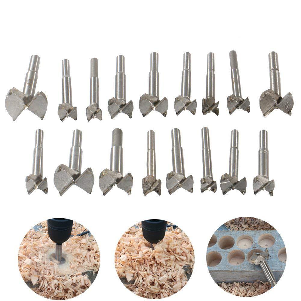 Juego de brocas Forstner de 15 a 100 mm para carpinter/ía y carpinter/ía