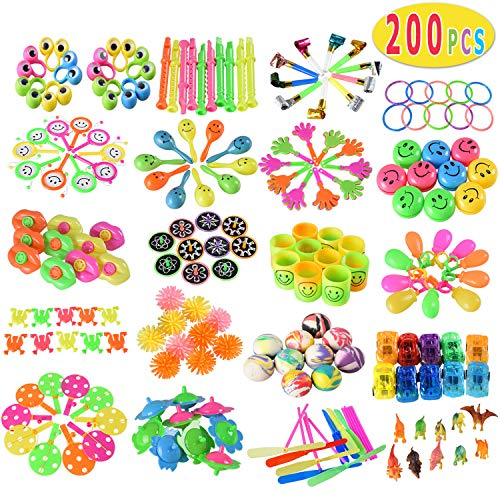 Max Fun 200pcs Random Color Assortment Toys for Kids Birthday Party Favors Prizes Box Toy Assortment Classroom ()