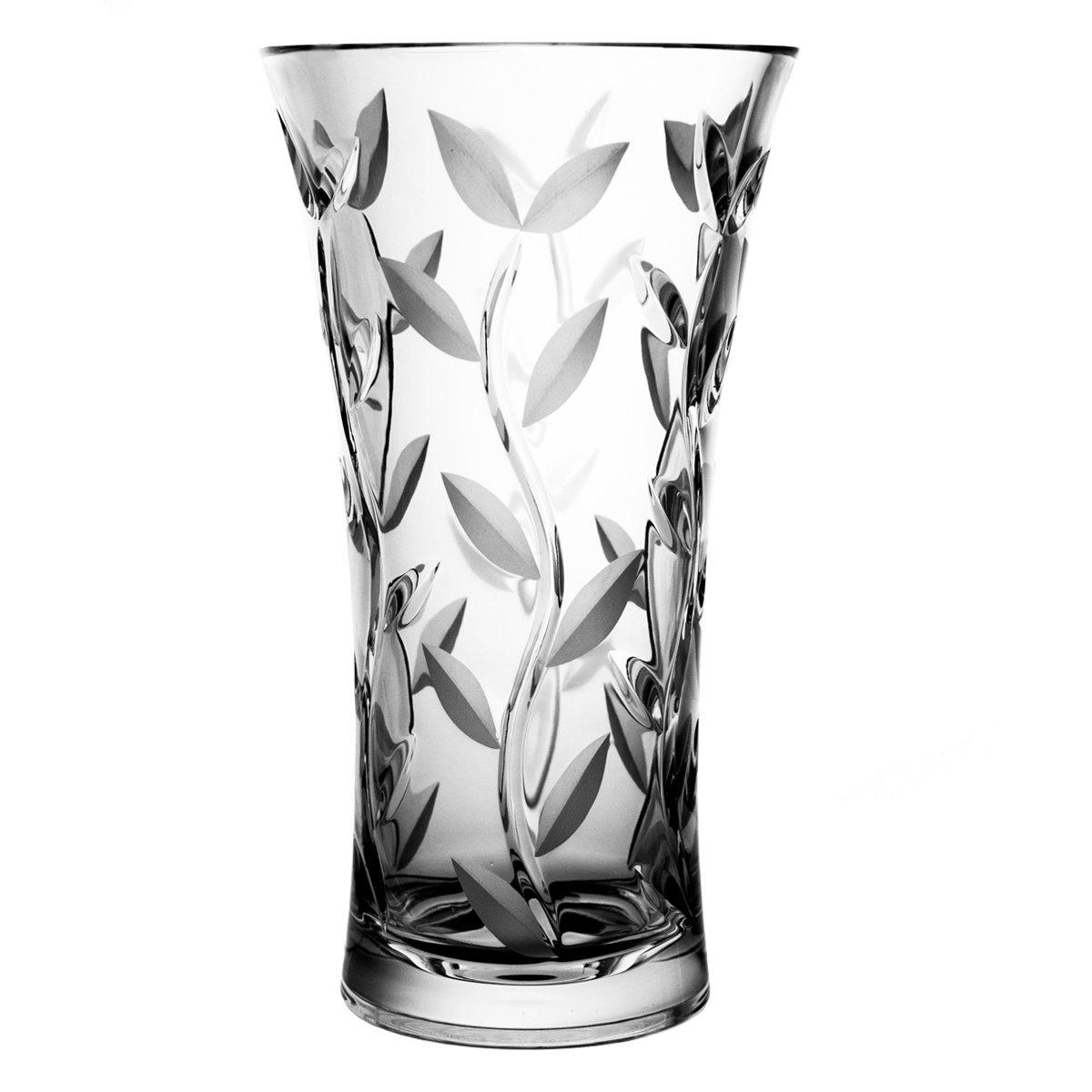 Crystaljulia 9665花瓶、リードクリスタル、25 cm B012A9BSX6