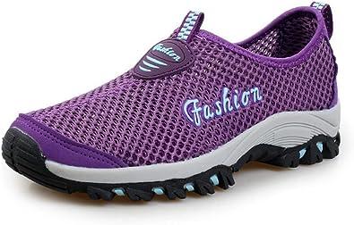 Zapatillas De Deporte Hombres Malla Sandalias Transpirable Sin Cordones De Montañismo Running Zapatos del Ocio Peso Ligero Verano: Amazon.es: Zapatos y complementos