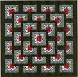 Easy Quilt Kit Boxed Maze!! Red, Black, White/Queen/EXPEDITED SHIPPING