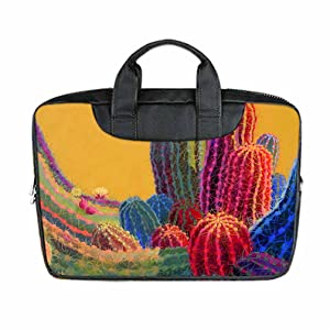 INSTALL AND EASY TO CARRY Wear& Slim &Dapper Cactus Art Custom Waterproof Nylon Bag for Laptop 11 Inches(Twin sides)