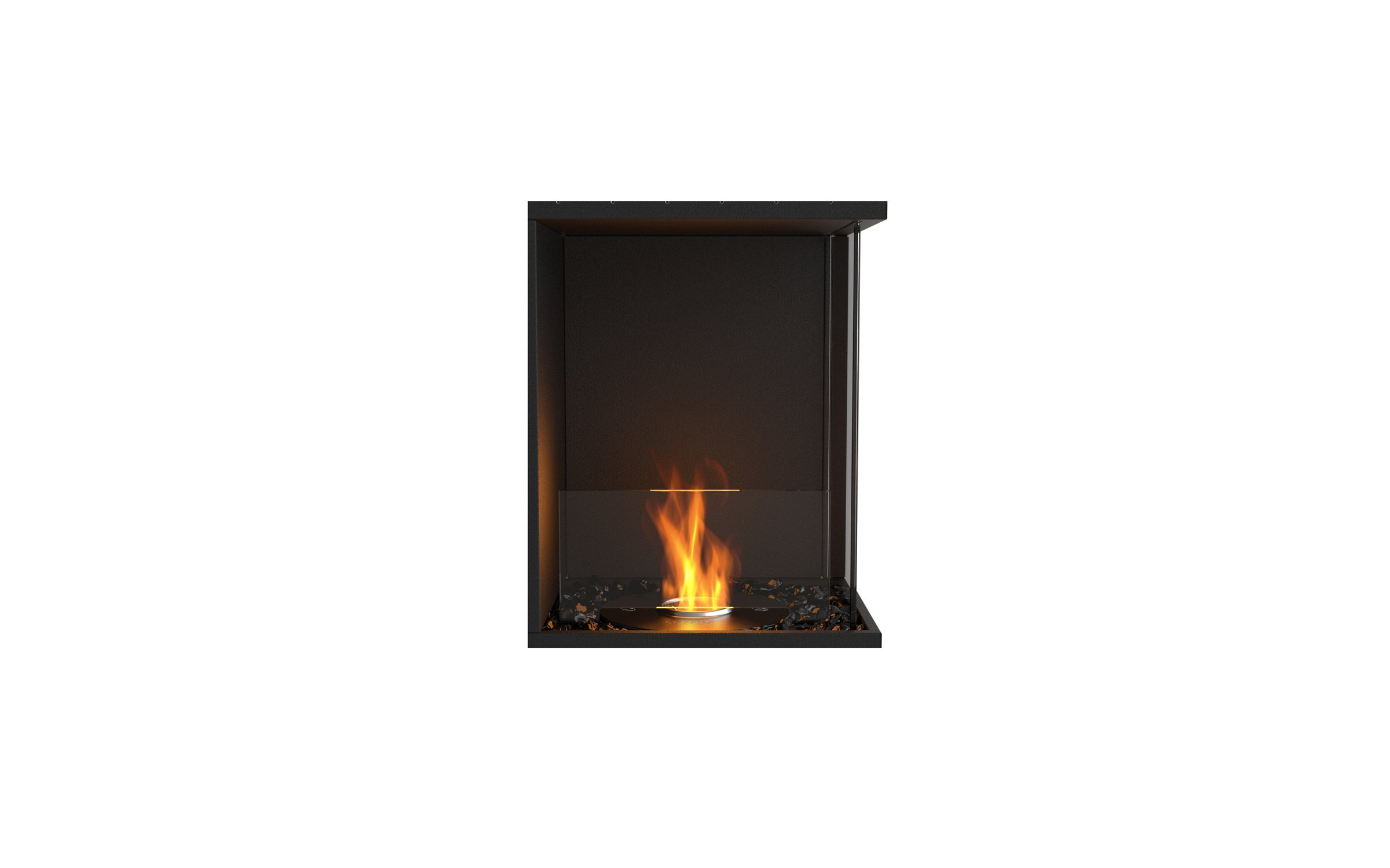 EcoSmart Fire ESF.FX.18RC Flex Right Corner Firebox Insert, Black by EcoSmart Fire