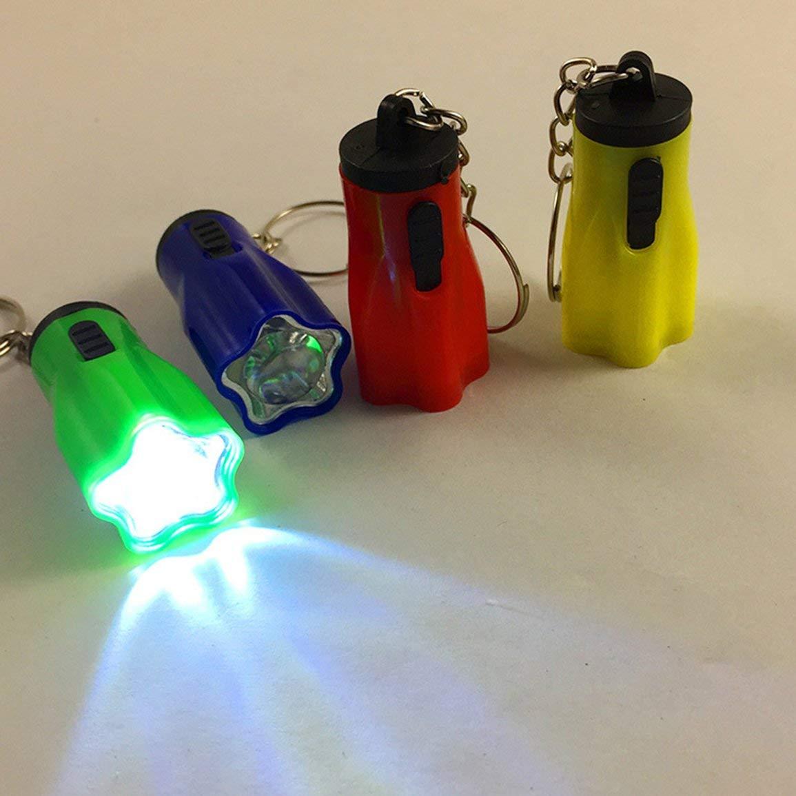 Qinghengyong Color al Azar del Mini Bolsillo Linterna LED LED Linterna antorcha Llavero Clave Cadena Hook Inicio al Aire Libre Que acampa yendo Accesorios