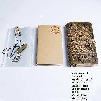 VQEWZ Cuaderno Artesanía 100% Cuero Original Mapa Del Mundo ...