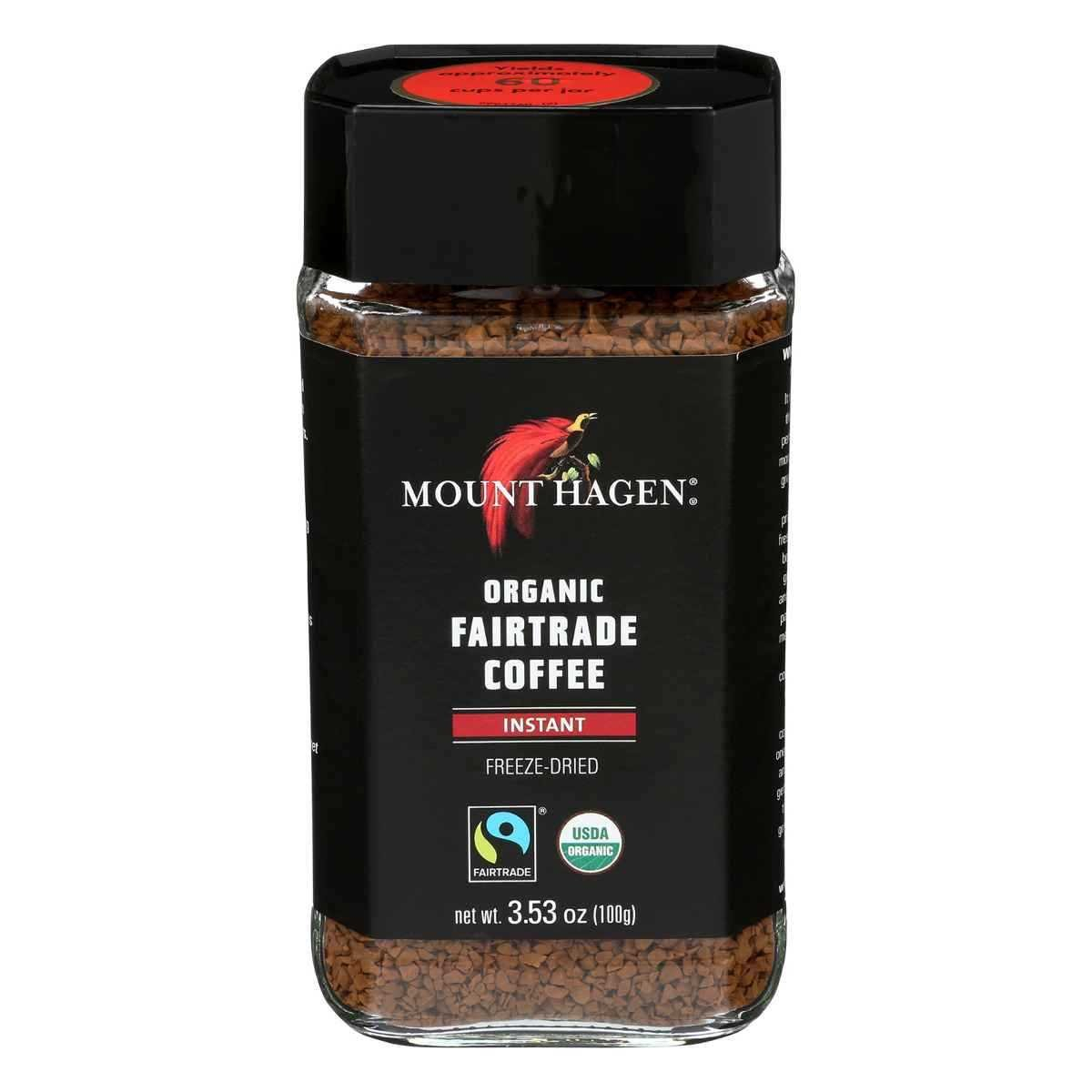 Mount Hagen Organic Freeze Dried Instant Coffee