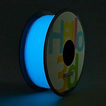Amazon.com: PLA filamento para impresora 3D, Hello3D brilla ...