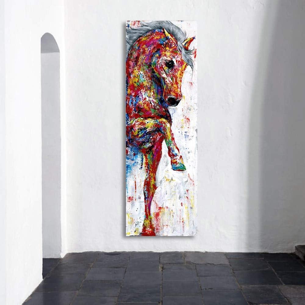 HYLBH Pintura Mural Arte De La Pared Pintura De La Lona Cuadro del Caballo Impresiones del Cartel Pintura Animal Decoración del Hogar Sin Marco