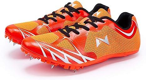 ZLYZS Zapatillas De Atletismo Unisex, Zapatilla Sprint Botas De Salto Alto Botas De Salto Largo Puntas De Pista De Plástico Zapatillas De Correr: Amazon.es: Deportes y aire libre