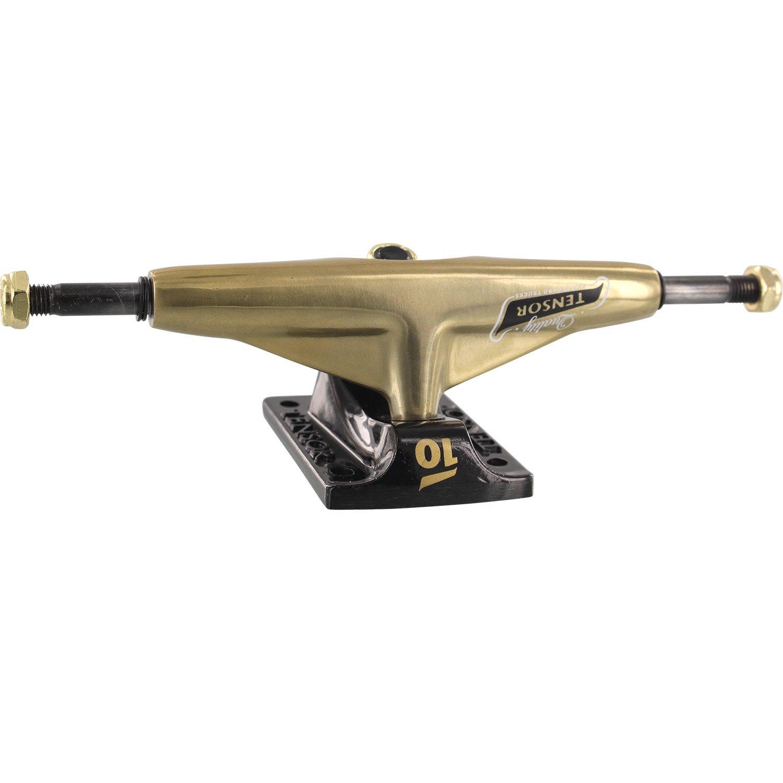 Tensor TrucksアルミMini Flick Lowミラーゴールド/ブラックスケートボードトラック – 5.25