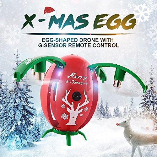 RONSHIN JJRC H66 Egg 720P WiFi FPV Selfie Drone w/ Gravity Sensor Mode Altitude Hold RC Quadcopter RTF for Kids Christmas Green