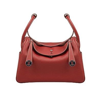 894a8c30a1 Ainifeel Women s Genuine Leather Shoulder Handbag And Purse Hobo Bag  (Claret ...